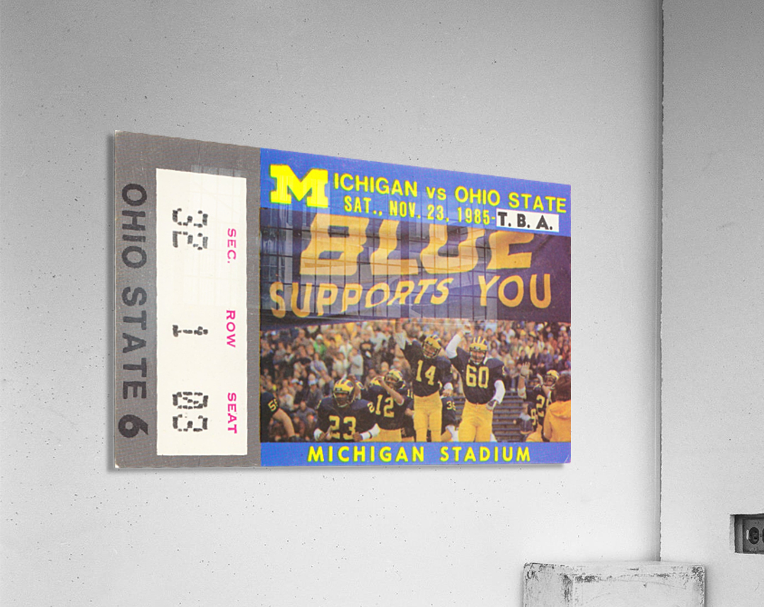 1985 Michigan vs. Ohio State  Acrylic Print