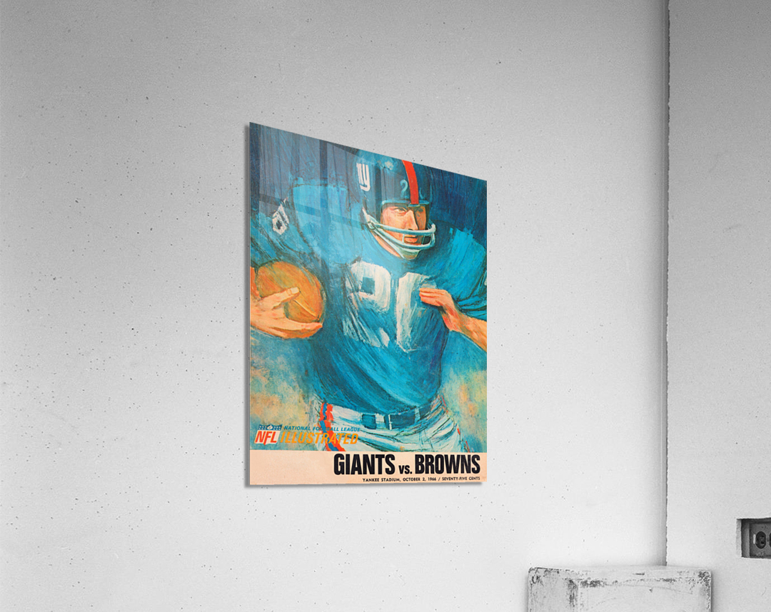 1966 New York Giants Program Cover Art  Acrylic Print
