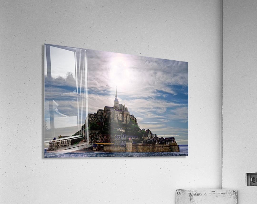 Mount Saint Michael The Fires of Heaven  Acrylic Print