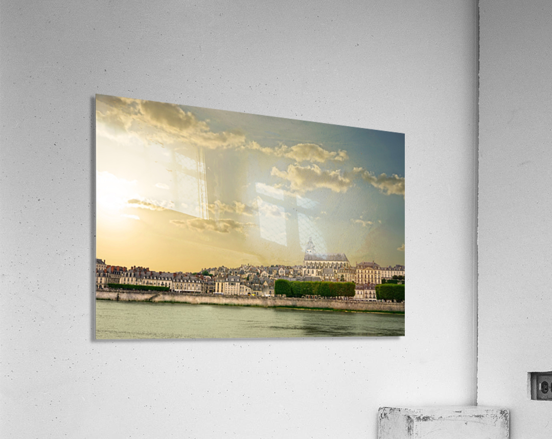 Blois and Cathedrale Saint Louis Across the Loire  Acrylic Print