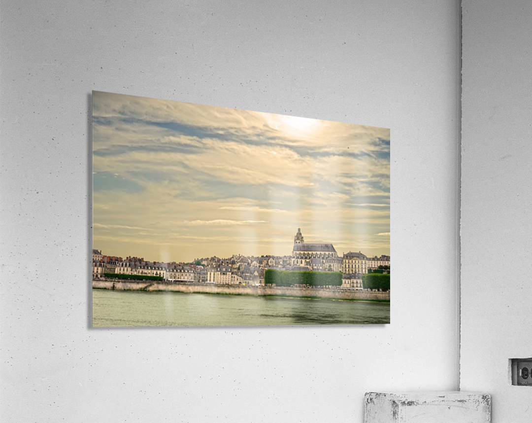 Cathedrale Saint Louis Across the Loire  Acrylic Print