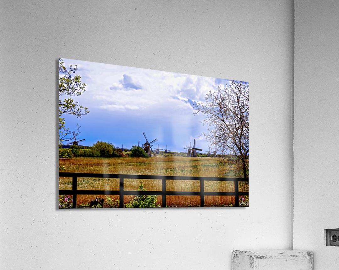 Windmills in Spring  Acrylic Print