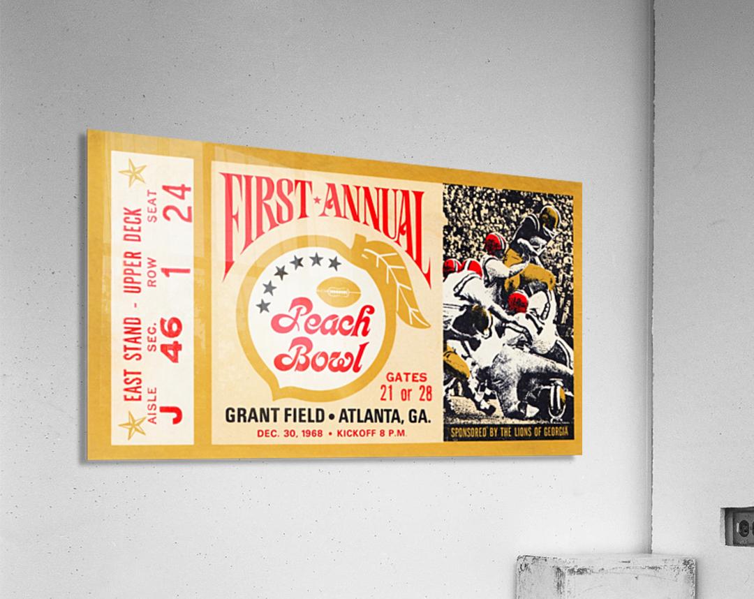 1968 First Peach Bowl LSU Win  Acrylic Print