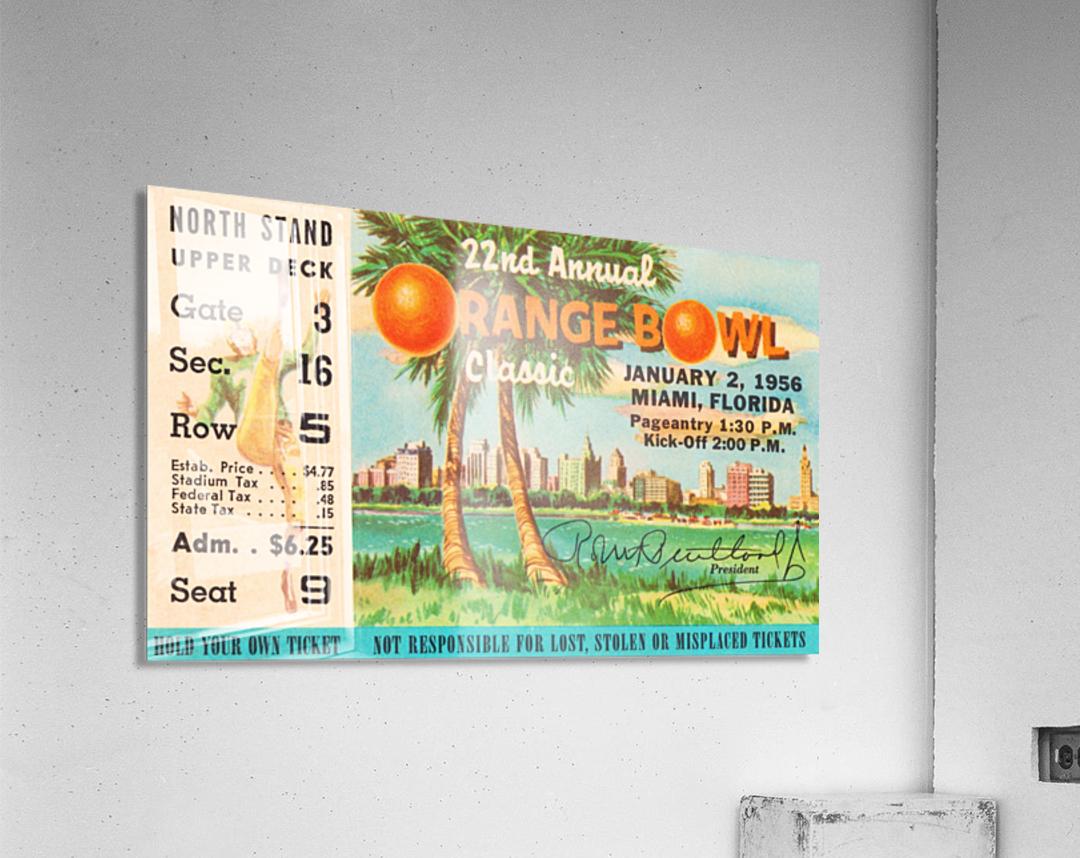 1956 Orange Bowl Oklahoma National Champs  Acrylic Print