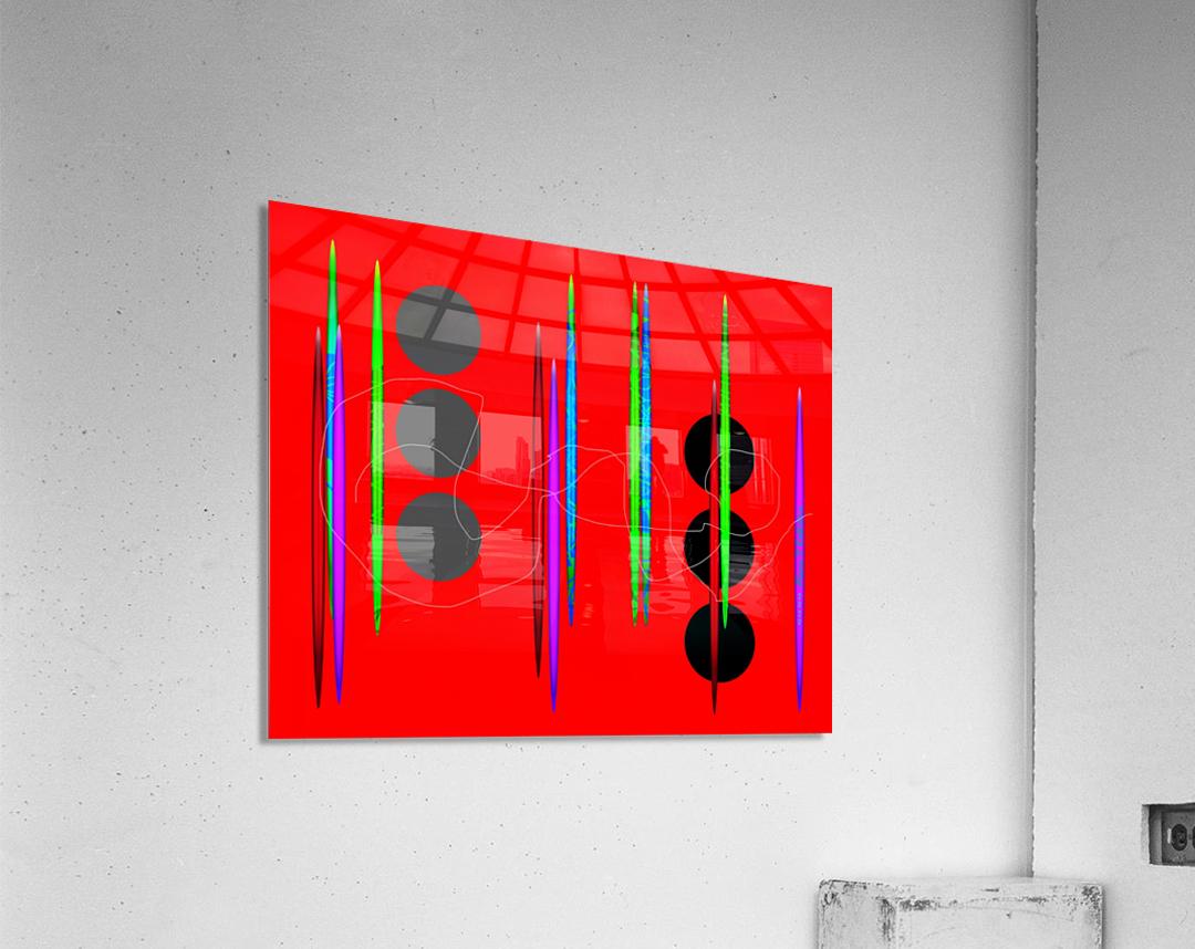 HorizonRedCircles  Acrylic Print