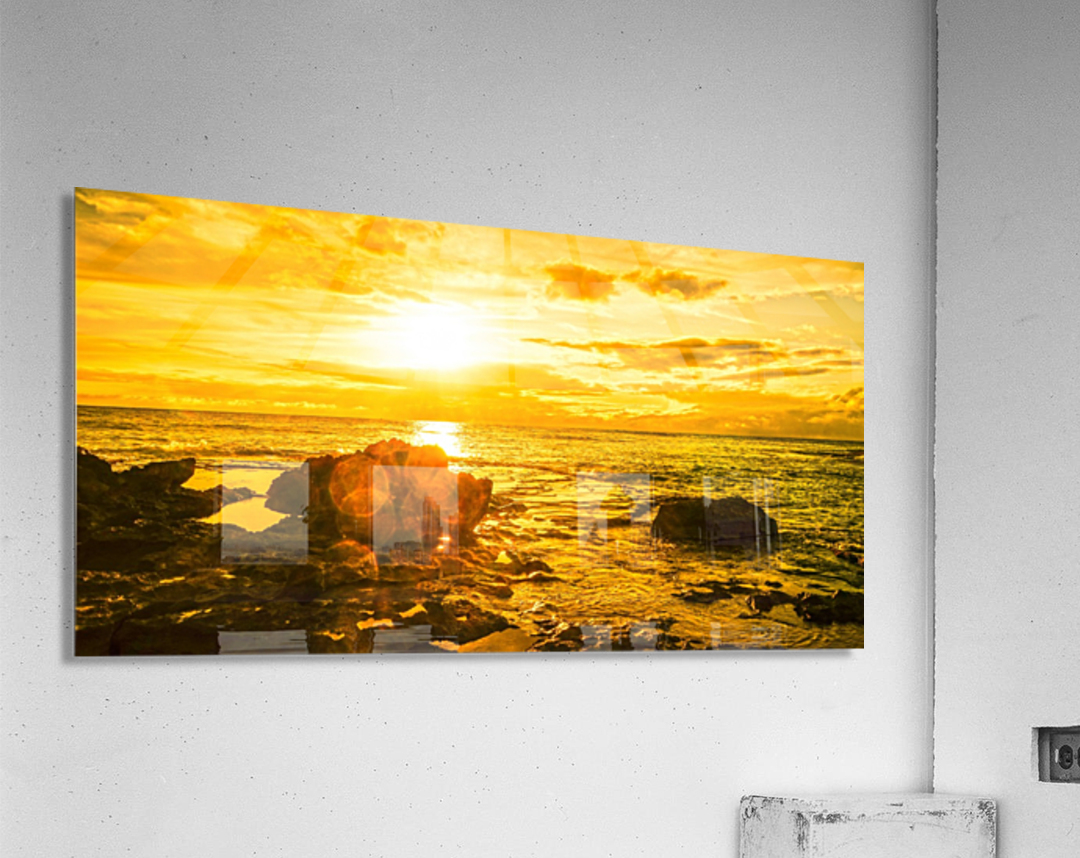 Majestic Sunset Panorama  Acrylic Print
