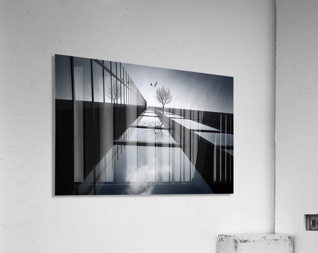 The Ethereal Flying Garden  Acrylic Print