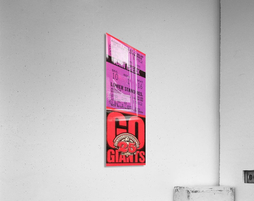 1982 San Francisco Giants Ticket Stub Art  Acrylic Print