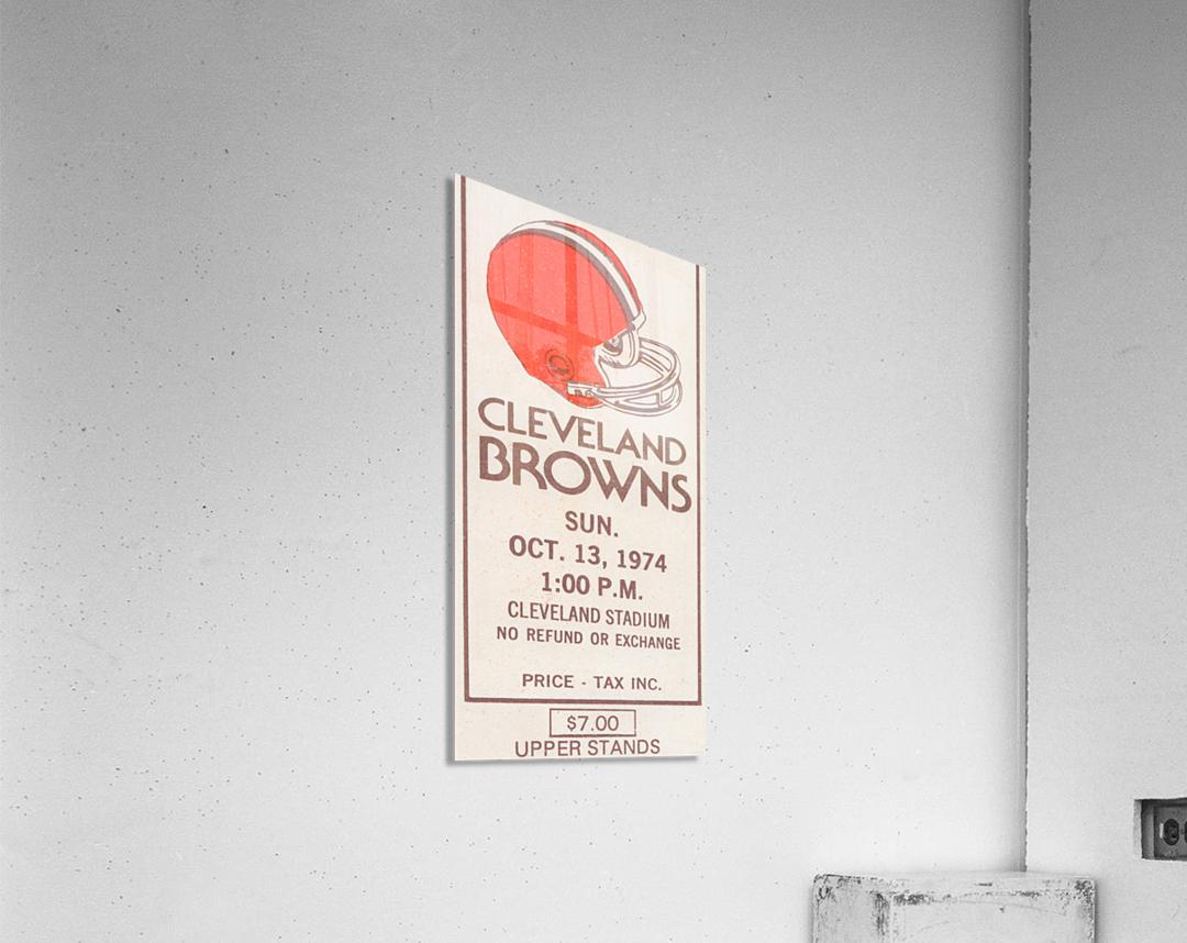 1974 Cleveland Browns Ticket Stub Art  Acrylic Print