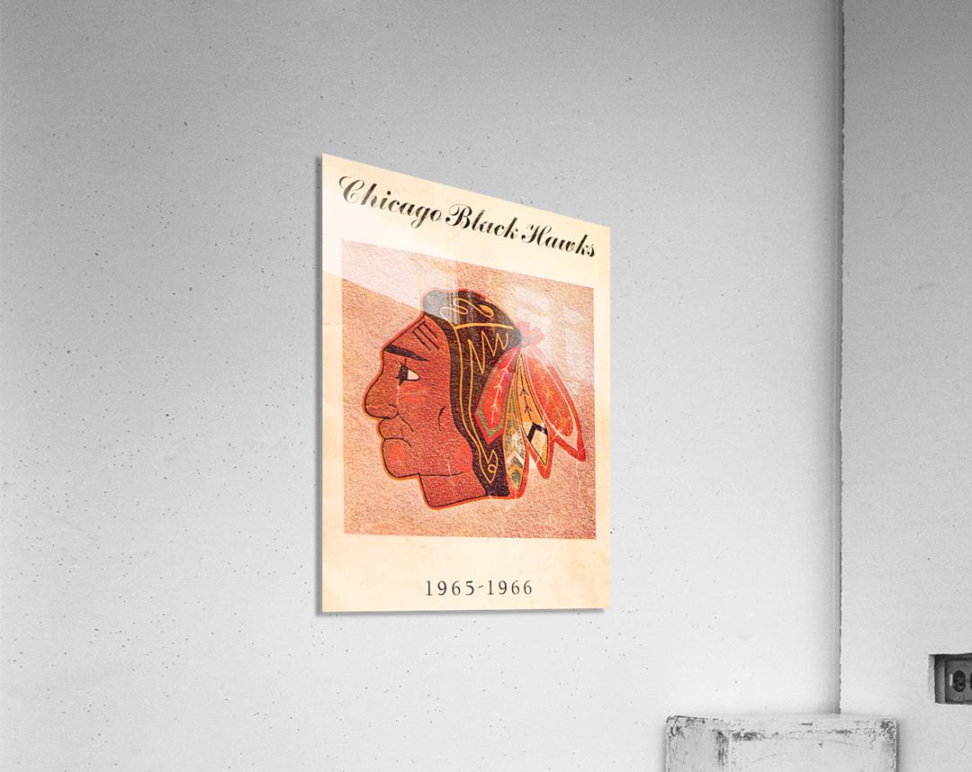 1965 Chicago Black Hawks Art  Acrylic Print
