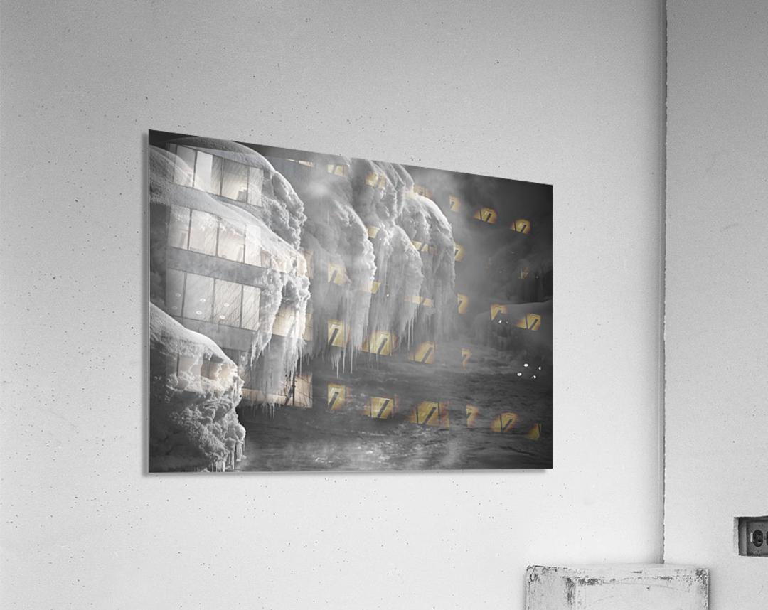 Winter River Smoke  Acrylic Print