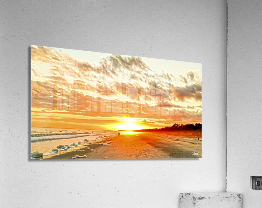 The Day Ends at the Seashore  Acrylic Print