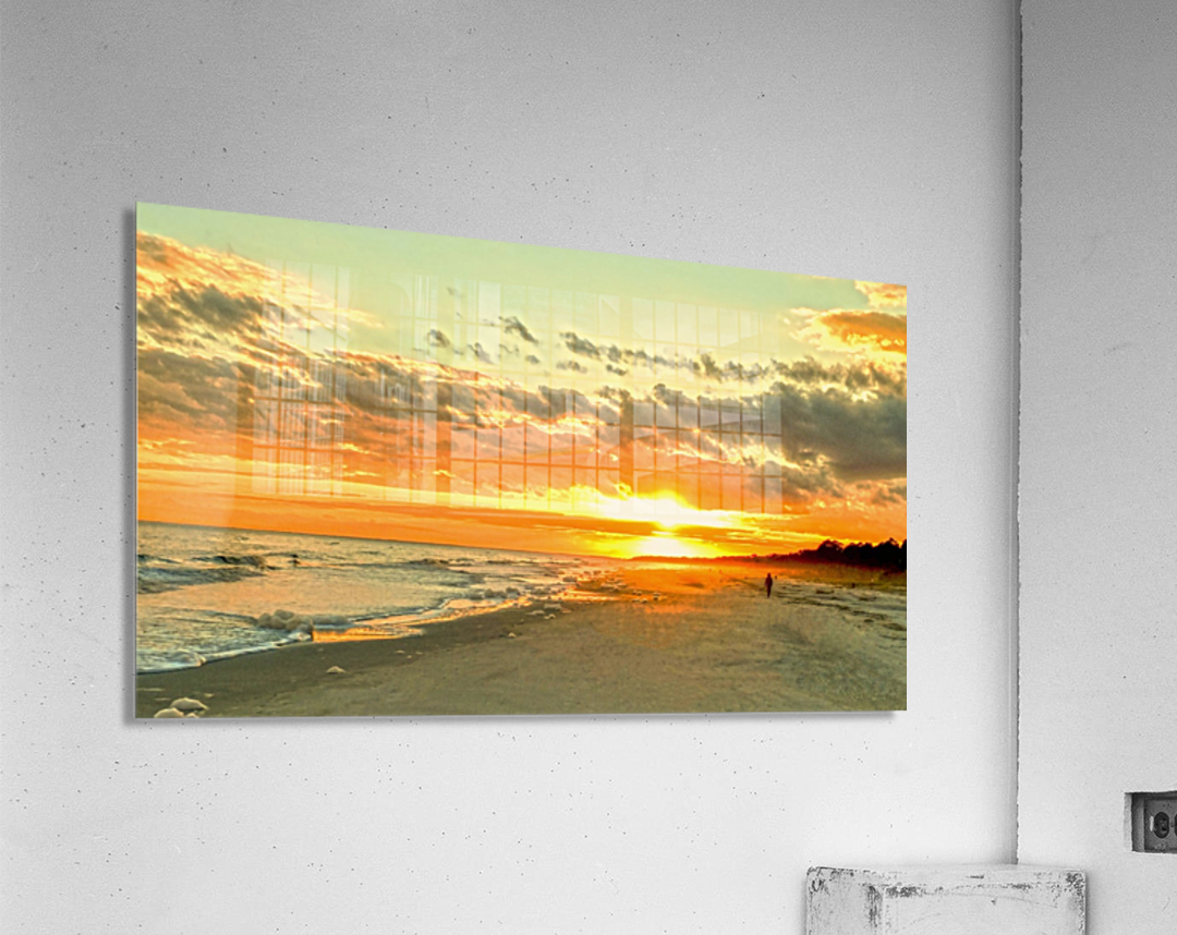 The Carolina Sunset  Acrylic Print
