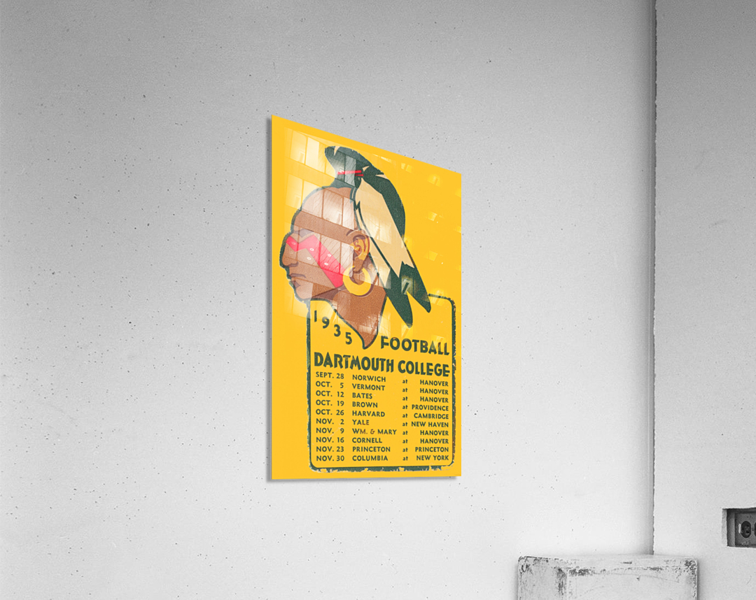 1935 Dartmouth Indians Football Poster  Acrylic Print
