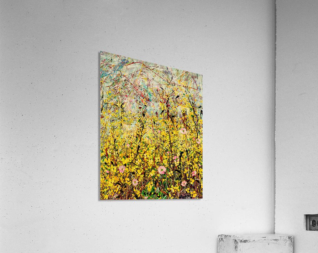 Symphony in Yellow Panel 2  Acrylic Print
