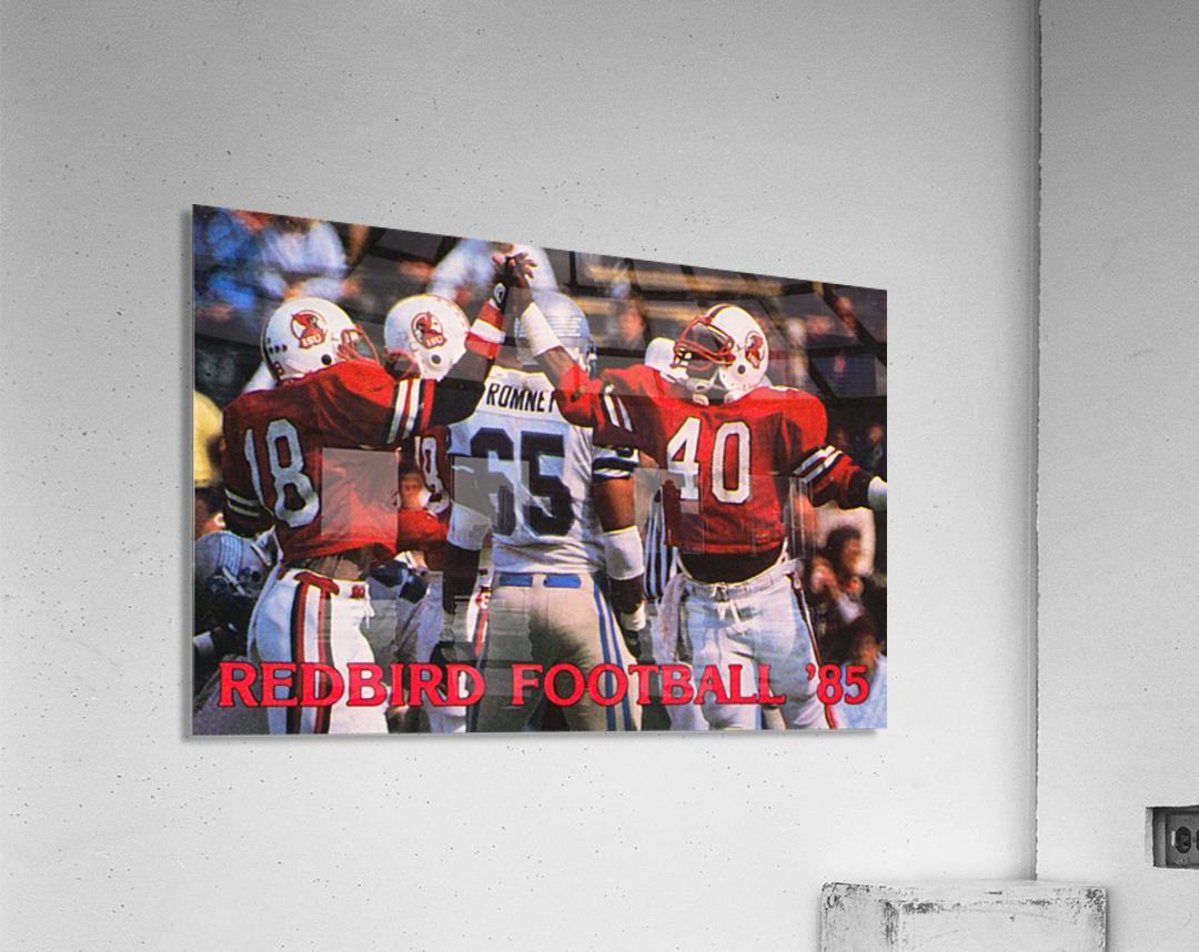 1985 Illinois State Redbirds Football Poster  Acrylic Print