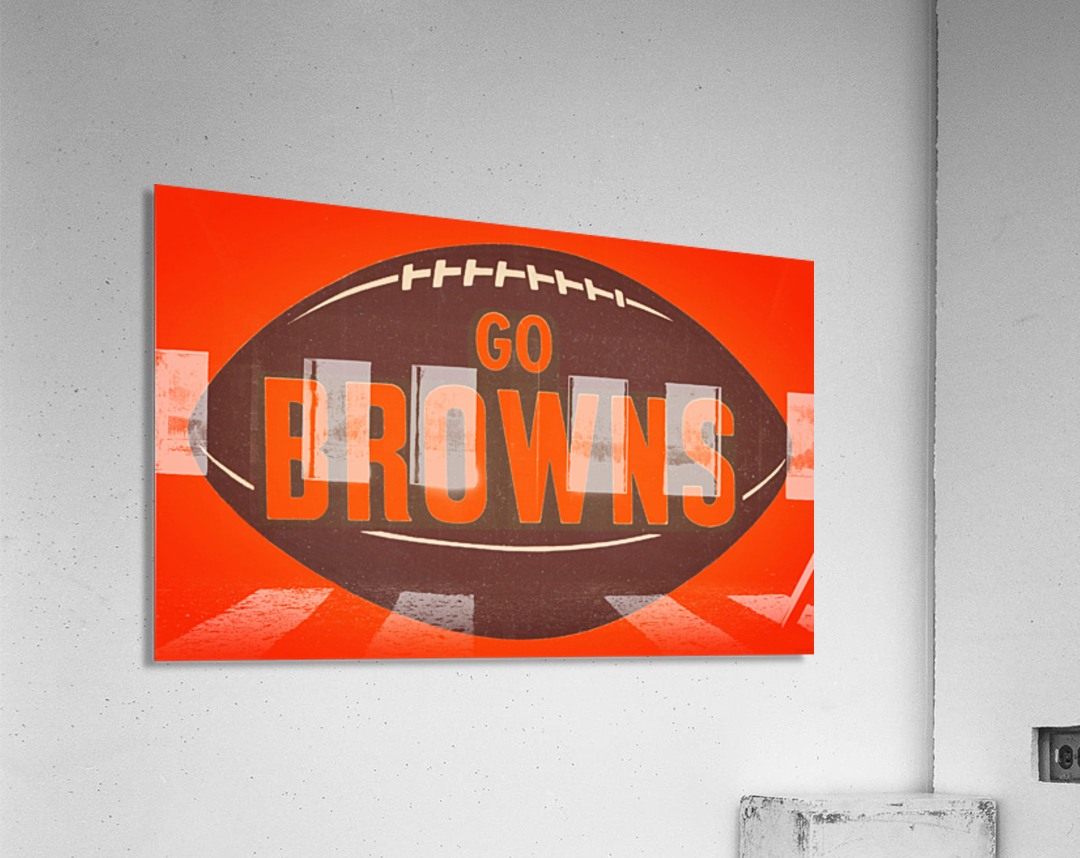 Vintage Cleveland Browns Football Art  Acrylic Print