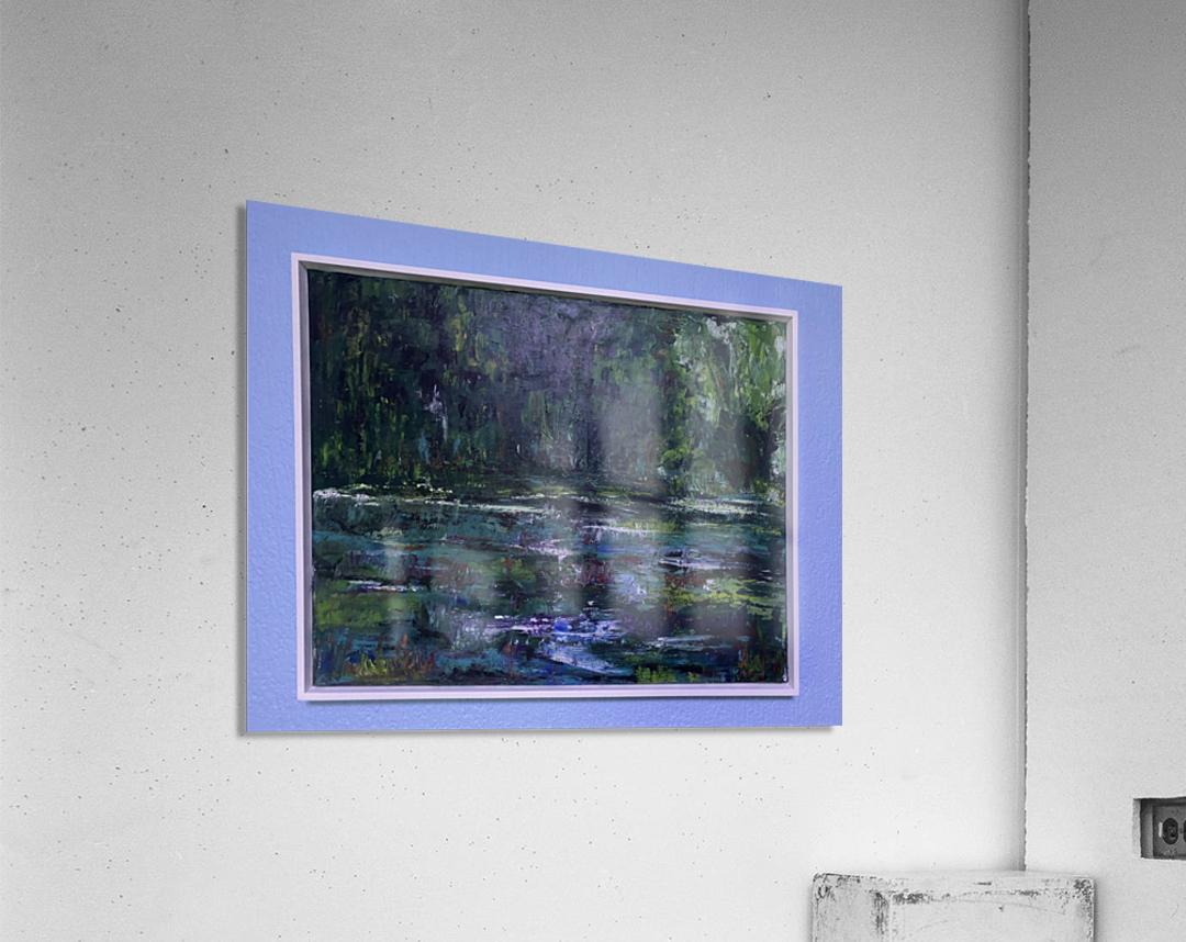 A swamp Concert  Acryl on Canvas 80x60  FRAMED   Acrylic Print