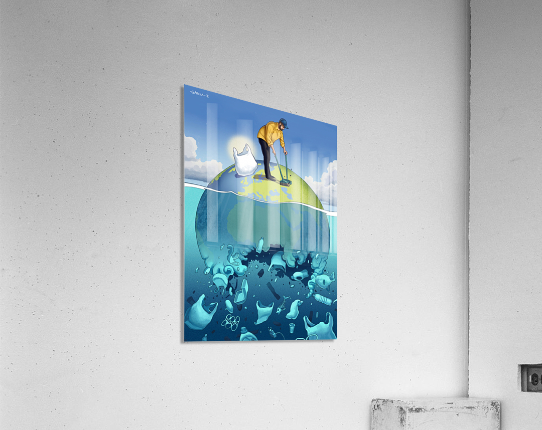 Clean the Planet  Acrylic Print