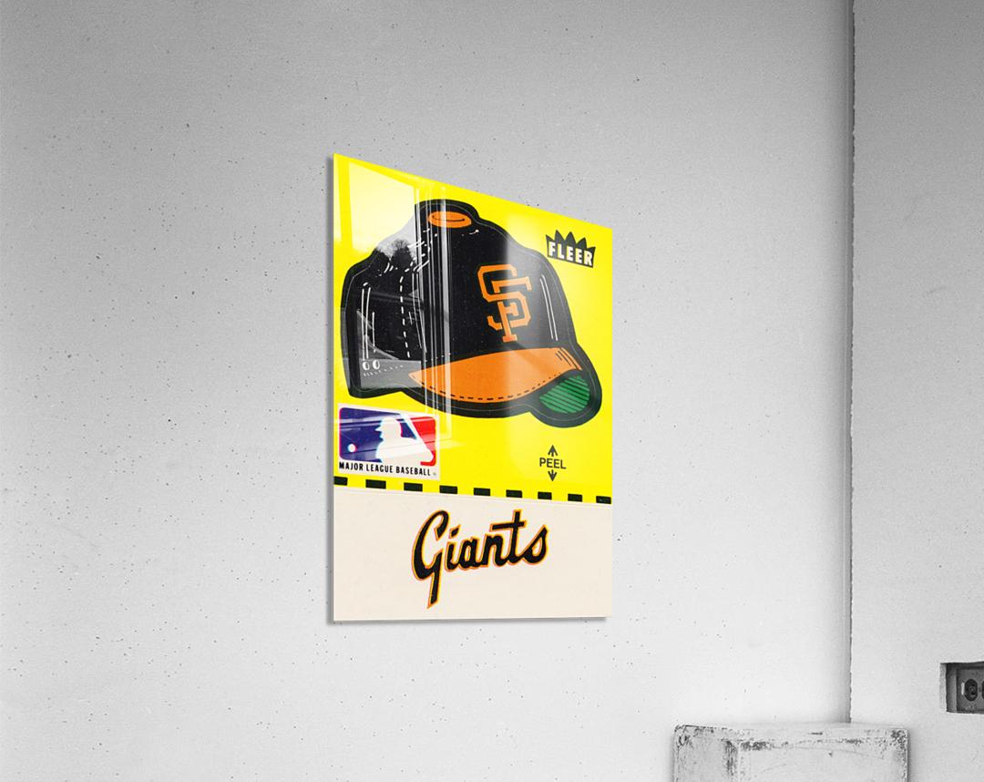 1981 San Francisco Giants Fleer Decal Poster  Acrylic Print
