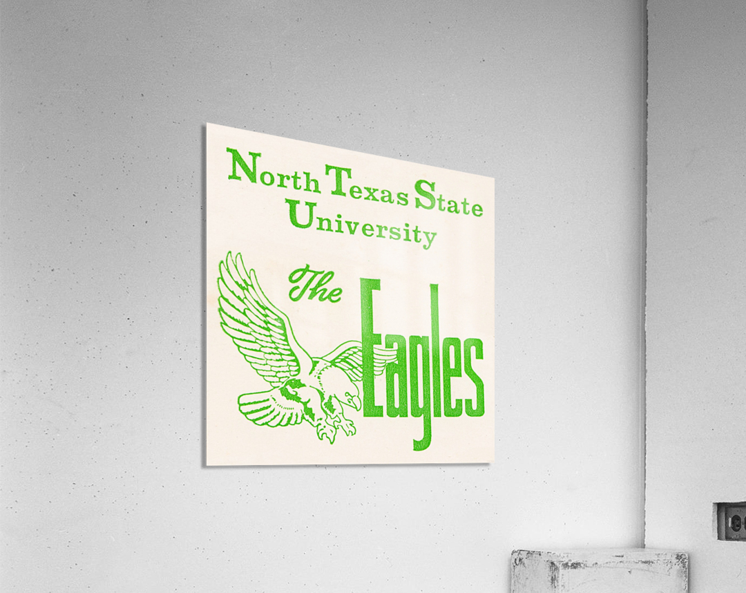 Vintage North Texas State University Eagles Art  Acrylic Print