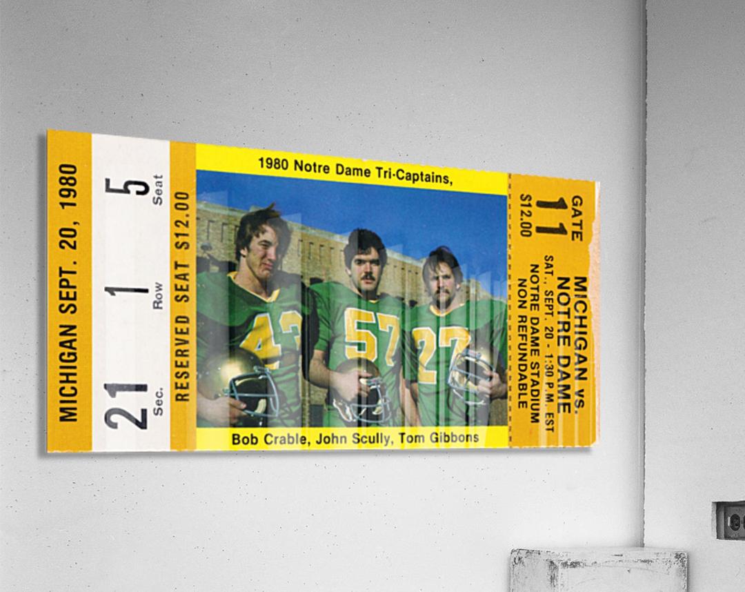 1980 Notre Dame vs. Michigan  Acrylic Print