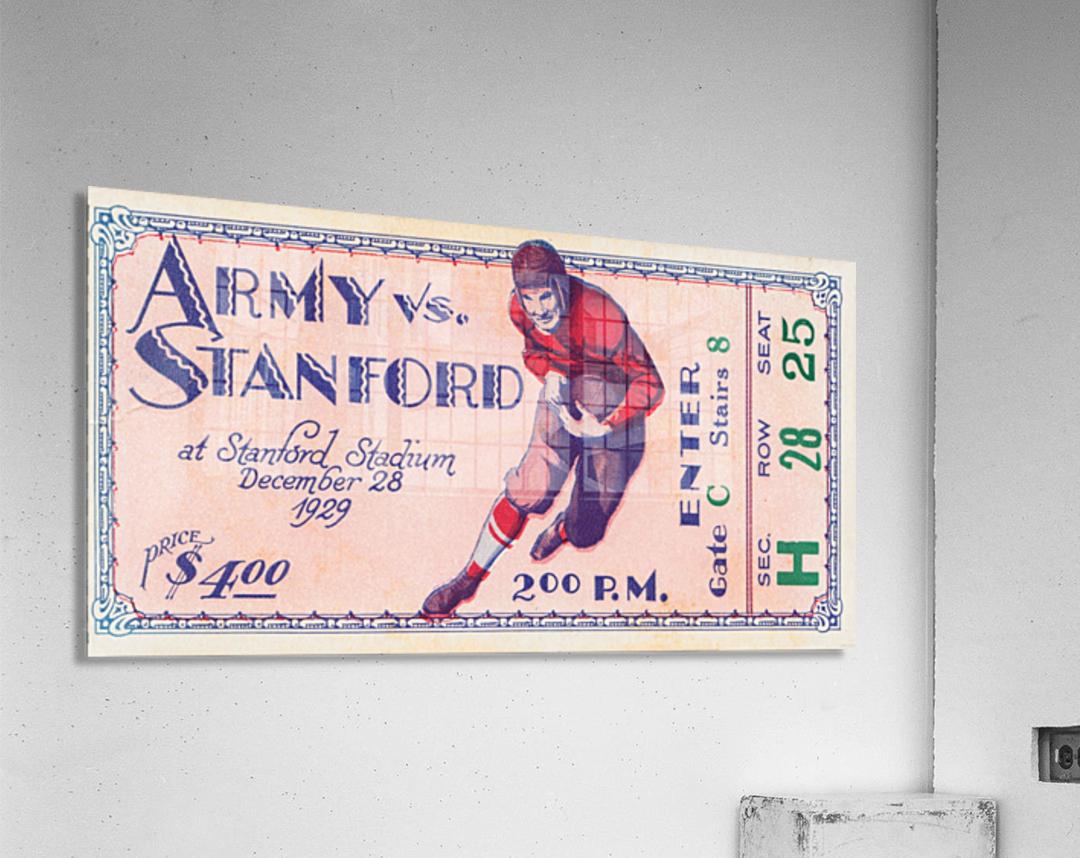 1929 Stanford Football Ticket Stub Art  Acrylic Print