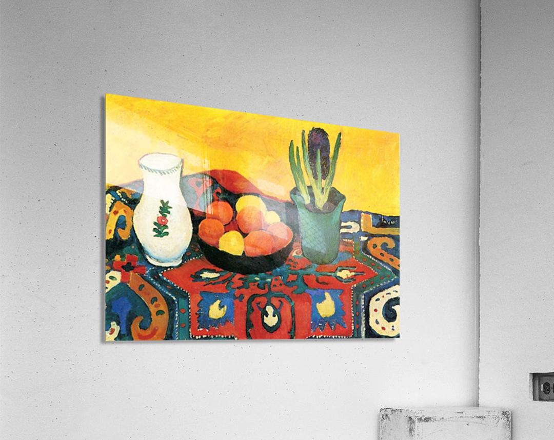 Still Life with Hyacinthe by Macke  Impression acrylique