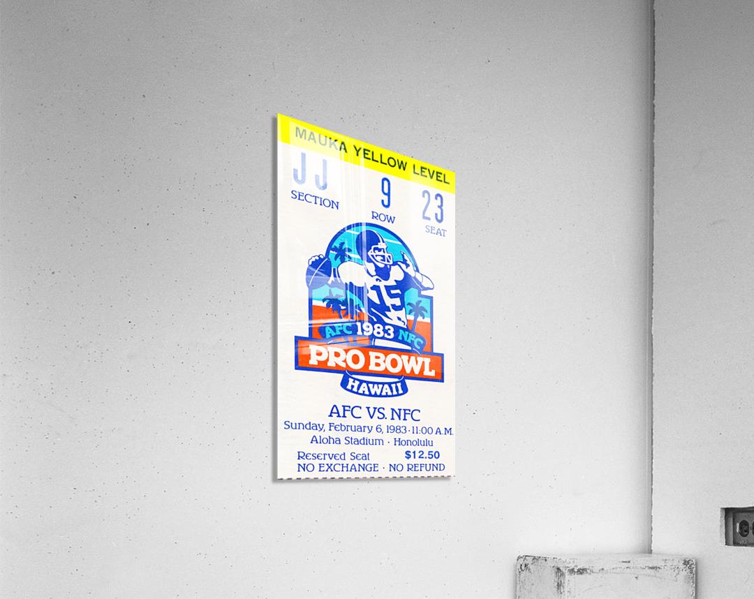 1983 Pro Bowl Ticket Stub Wall Art  Acrylic Print