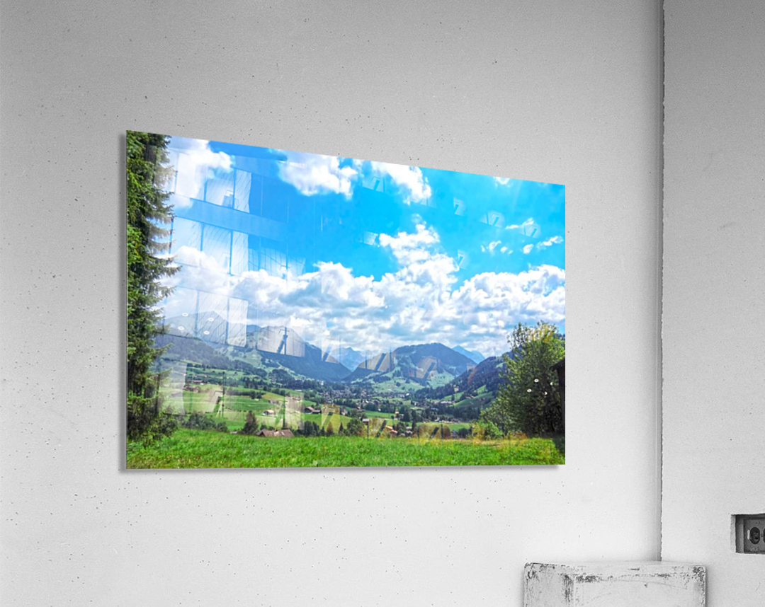 The Last Paradise in a Crazy World Gstaad Switzerland  Acrylic Print