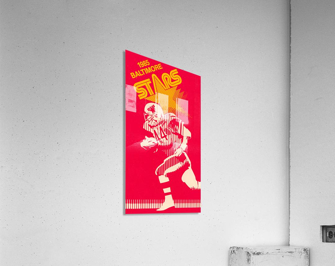 1985 Baltimore Stars USFL Football Art  Acrylic Print