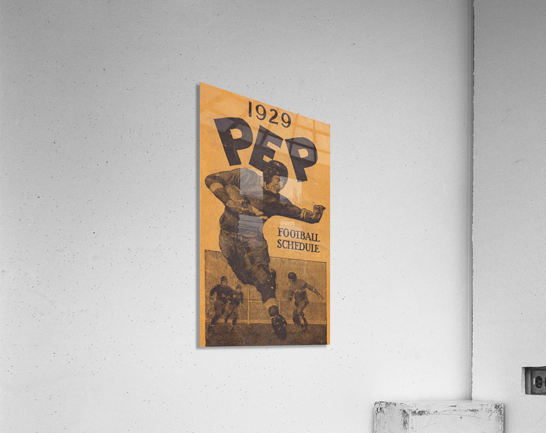 1929 Pep Football Schedule Art  Acrylic Print