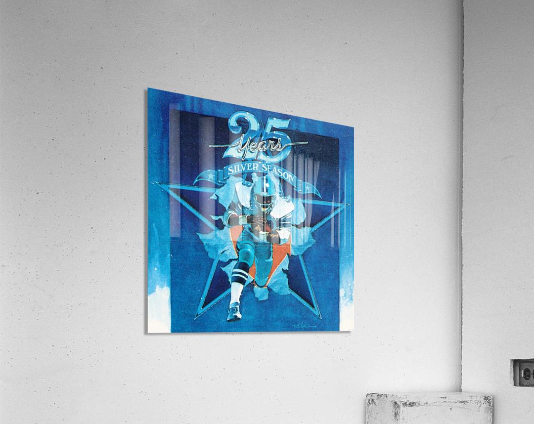 1984 Dallas Cowboys Silver Season Art  Acrylic Print