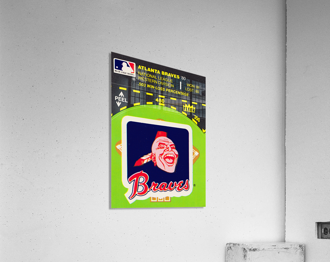 1981 Atlanta Braves Fleer Decal Poster  Acrylic Print