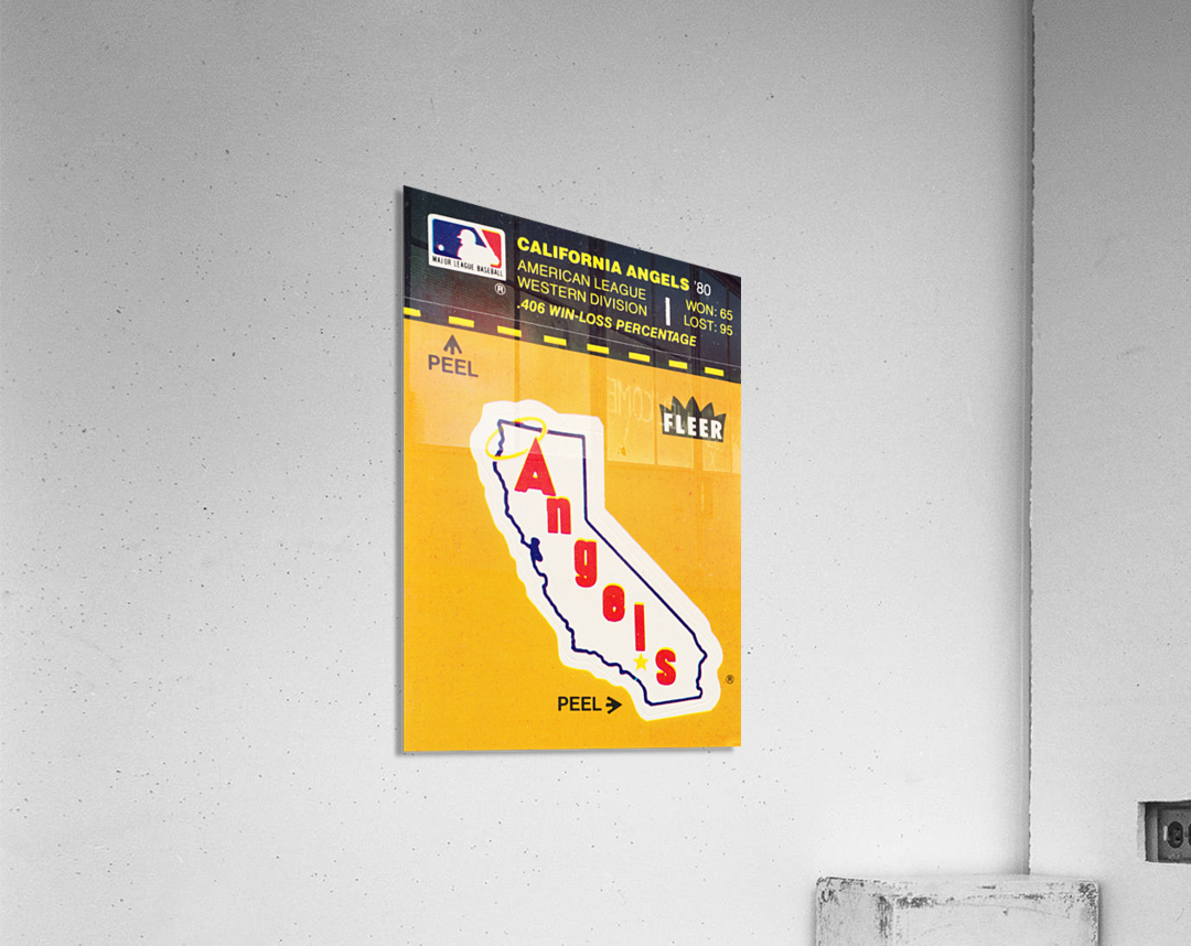 1981 Fleer Decal Poster California Angels  Acrylic Print