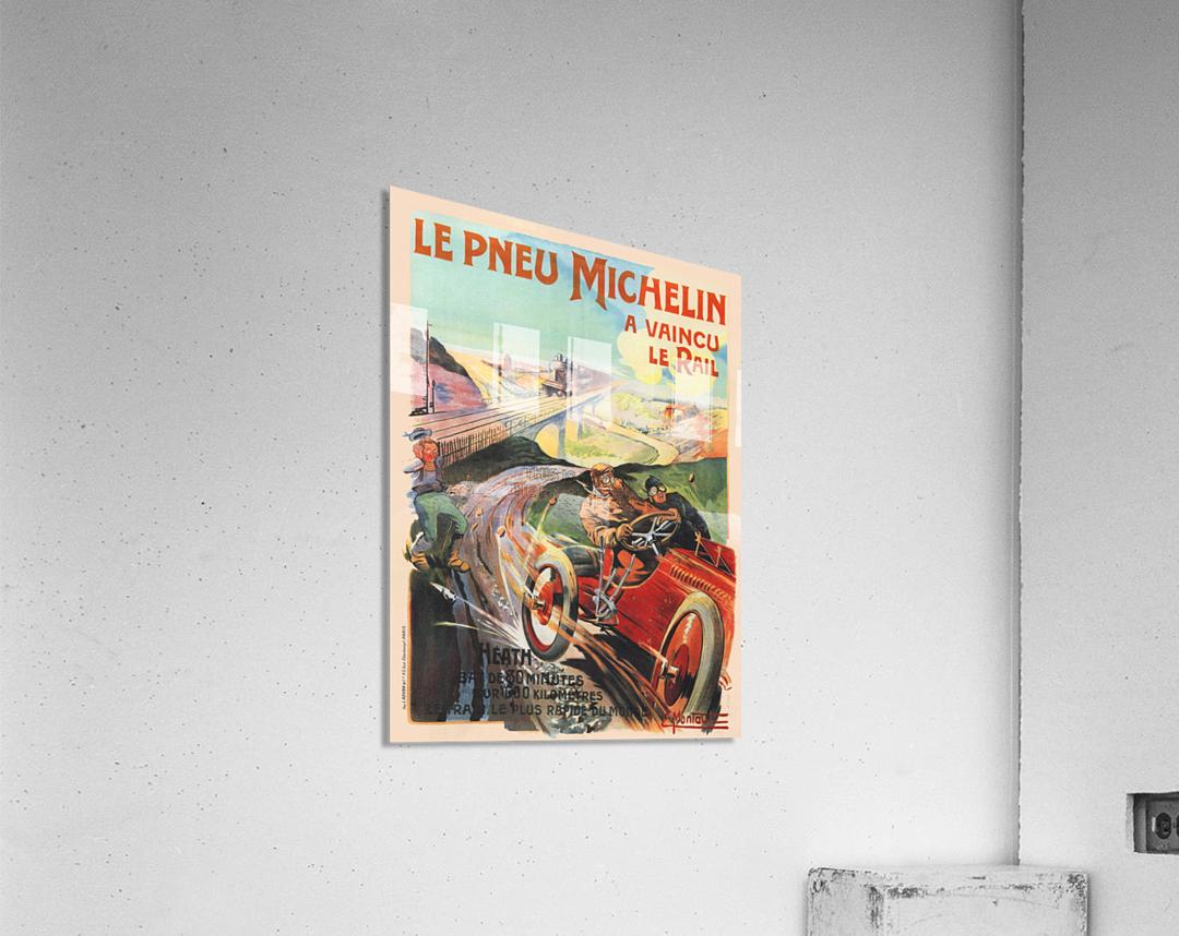 Le Pneu Michelin a vaincu le rail  Acrylic Print