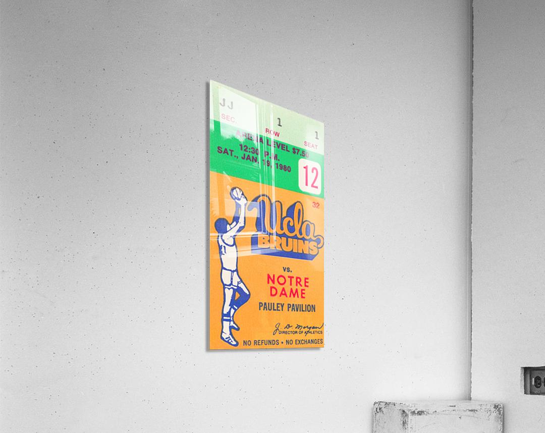 1980 UCLA Bruins Basketball Ticket Stub  Art  Acrylic Print