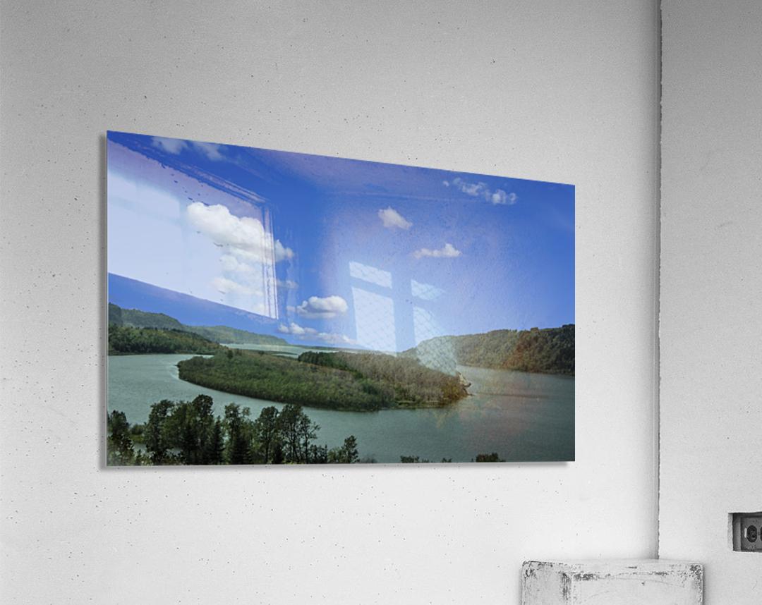 Columbia River The Gorge Oregon Panorama  Acrylic Print
