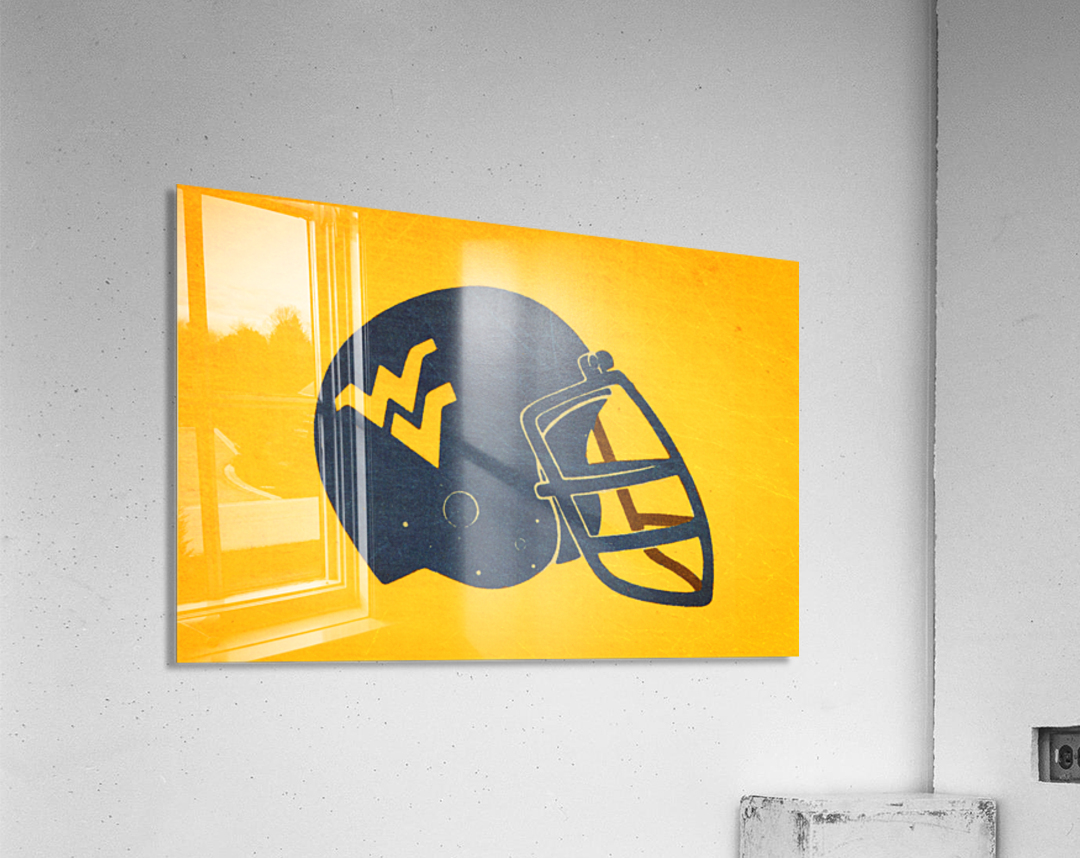 1985 West Virginia Mountaineers Football Helmet Art  Acrylic Print