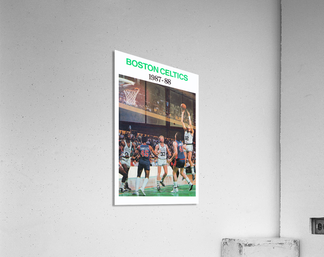 1987 Boston Celtics Larry Bird Poster  Acrylic Print
