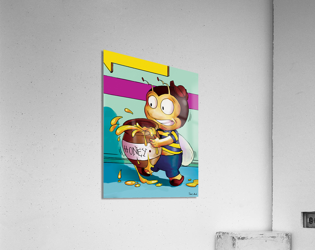 Be Careful with the Honey Buster Bee  Acrylic Print