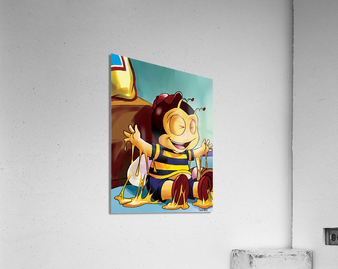 Sticky Mess - Too Much Honey Buster Bee  Acrylic Print
