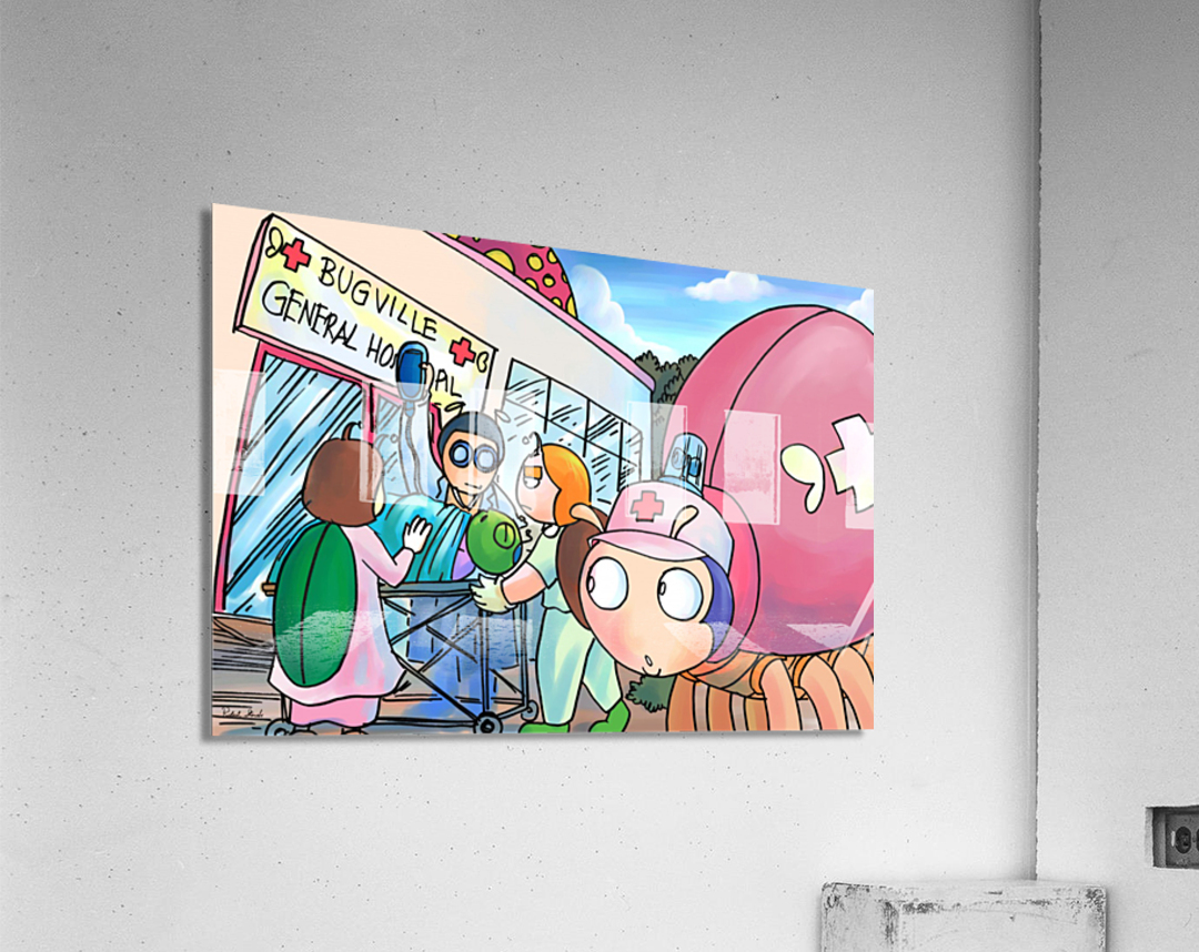 At the General Hospital - Places in Bugville Collection 4 of 4  Acrylic Print