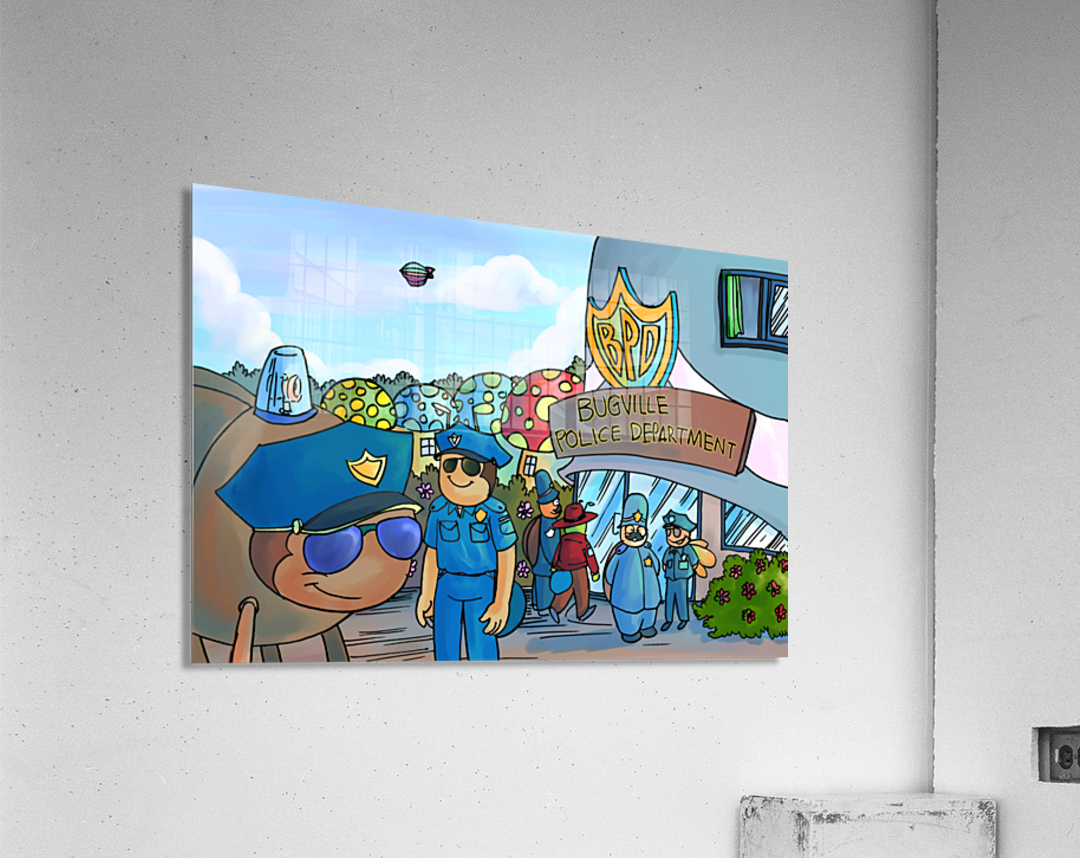 At the Police Department - Places in Bugville Collection 3 of 4  Acrylic Print