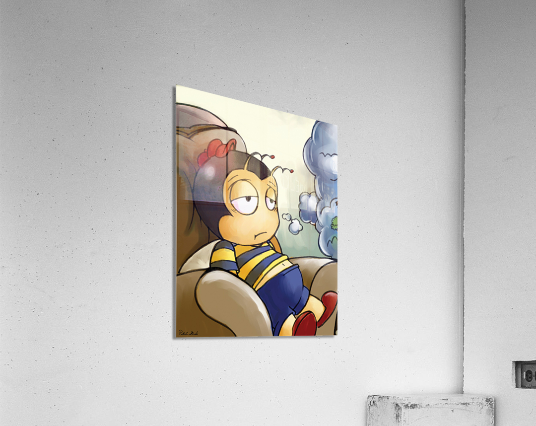 Exhausted - Thoughts on a Long Day - Buster Bee  Acrylic Print