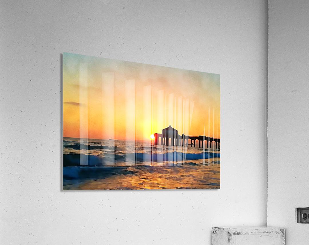 manhattan beach sunset wall art  Acrylic Print