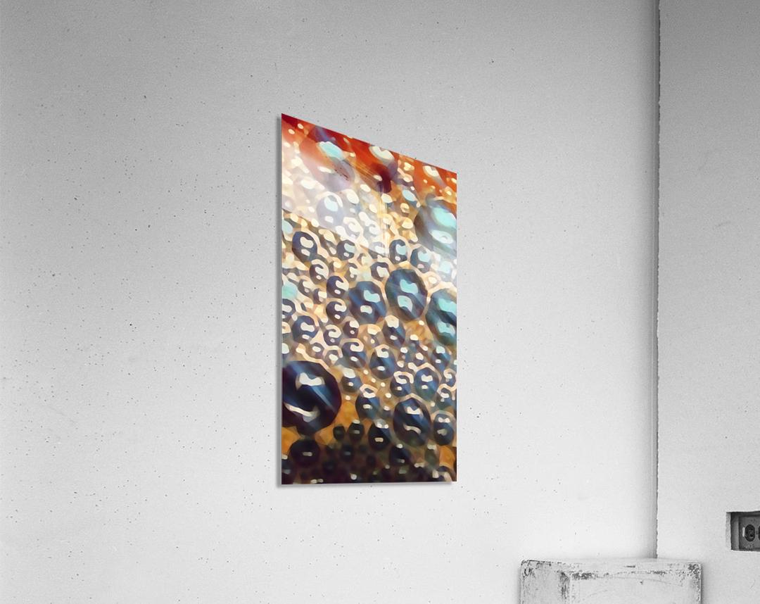 coffee bubbles art  Acrylic Print