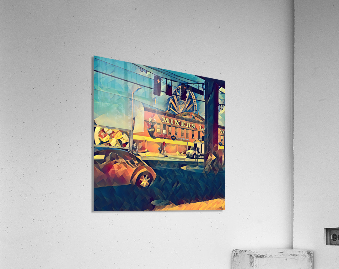 seattle great wheel art  Acrylic Print