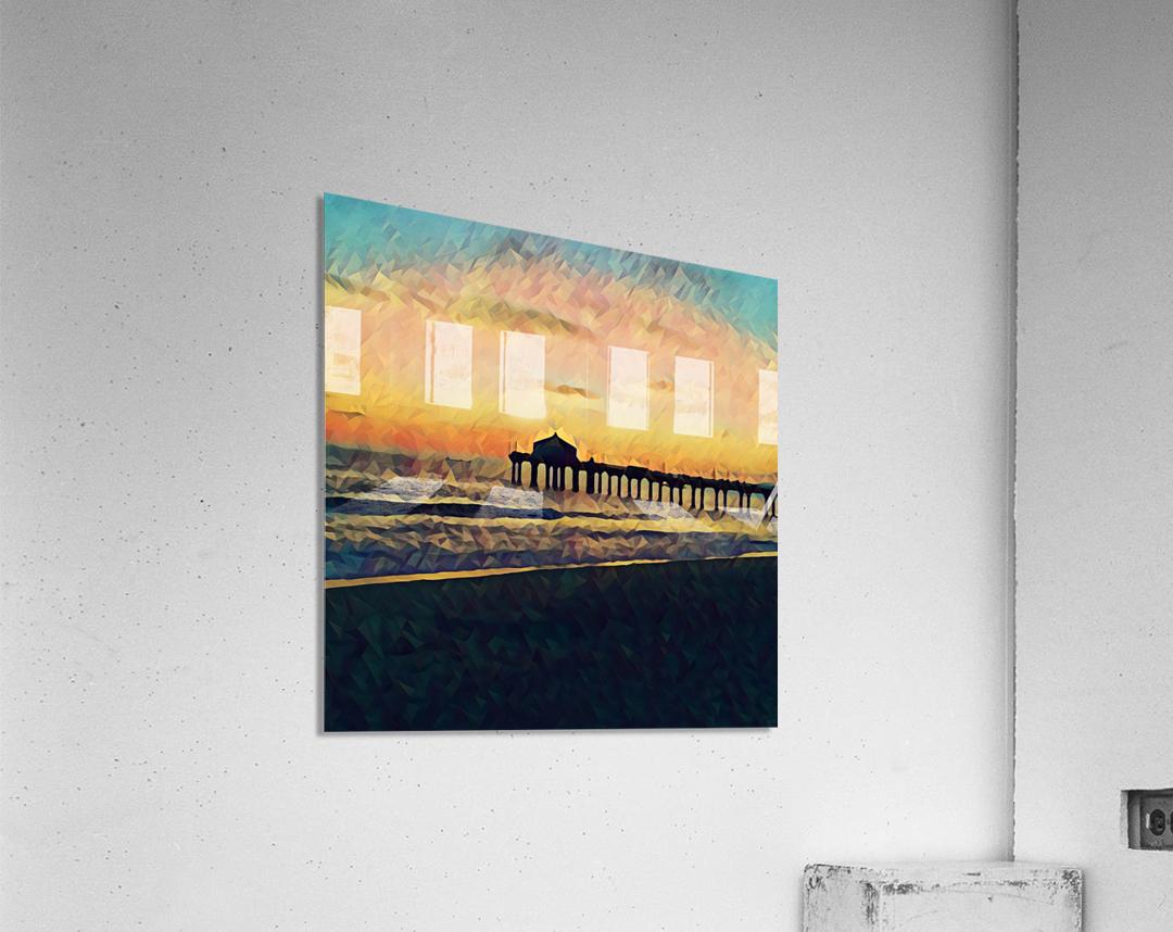manhattan beach sunset  Acrylic Print