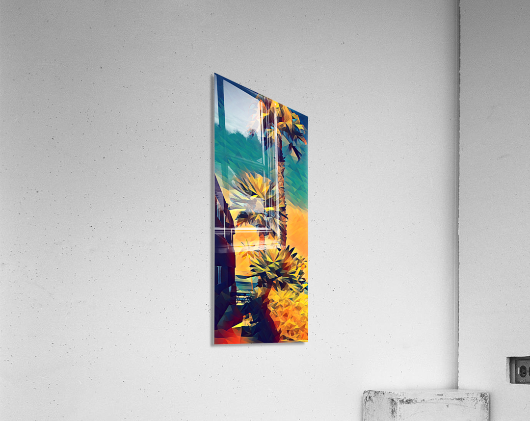manhattan beach palm trees  Acrylic Print